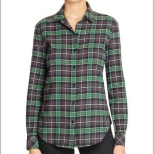 Elizabeth and James flannel plaid shirt